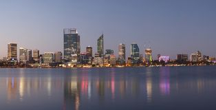 Panorama av Perth, Australien Royaltyfri Fotografi