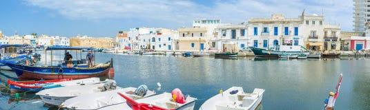 Panorama av port Arkivbild