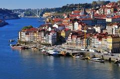 Panorama av Portu Arkivbild