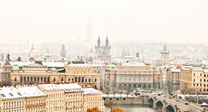 Panorama av Prague Royaltyfri Bild