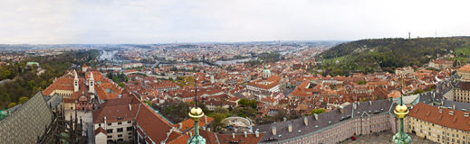 Panorama av Prague Royaltyfri Fotografi