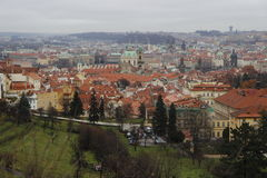 Panorama av Prague Royaltyfria Foton
