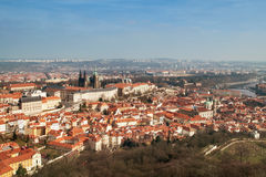 Panorama av Prague Arkivfoton