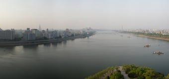 Panorama av Pyongyang Arkivbilder