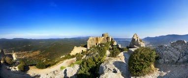 Panorama- av Pyrenees berg Arkivbild