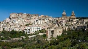 Panorama av Ragusa Arkivfoto