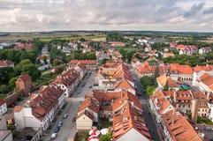 Panorama av Reszel i Polen Royaltyfria Foton