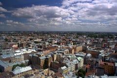 Panorama av Riga. Arkivbilder