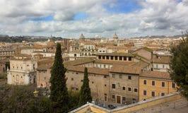 Panorama av Rome Royaltyfri Fotografi