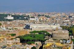 Panorama av Rome Arkivfoton