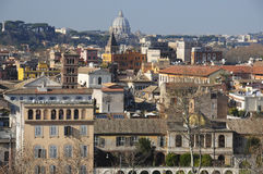 Panorama av Rome med sikt av San Pietro Royaltyfria Foton
