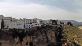 Panorama- av Ronda-Malaga-Spanien Fotografering för Bildbyråer