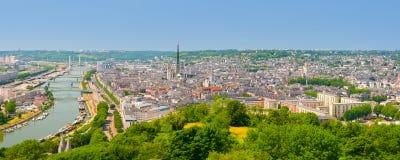 Panorama av Rouen Royaltyfri Fotografi