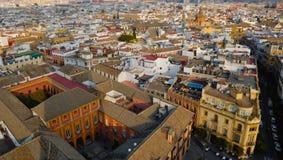 Panorama- av Seville Royaltyfri Bild