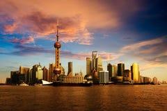 Panorama av Shanghai Fotografering för Bildbyråer