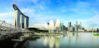 Panorama av Singapore Fotografering för Bildbyråer