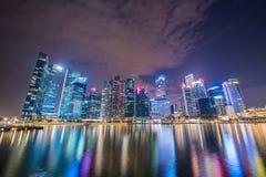 Panorama av Singapore Arkivfoto