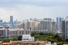 Panorama av Singapore Royaltyfri Fotografi
