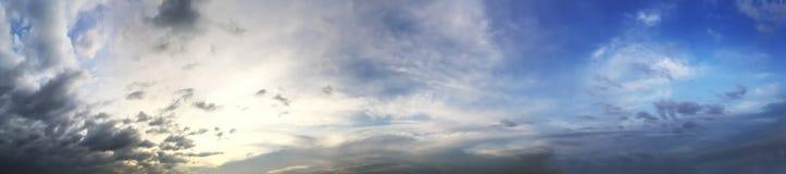 Panorama av solnedgånghimmel Royaltyfri Foto