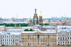 Panorama av St Petersburg - fågelperspektiv Arkivbild