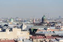 Panorama av St Petersburg från fågelperspektiv Royaltyfria Foton