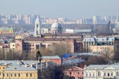 Panorama av St Petersburg från fågelperspektiv Royaltyfri Fotografi