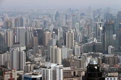 Panorama av staden Fotografering för Bildbyråer