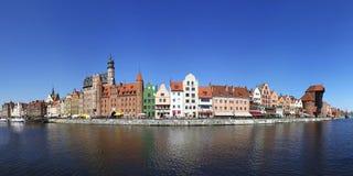 Panorama av staden av Gdansk (Danzig), Polen Arkivbild
