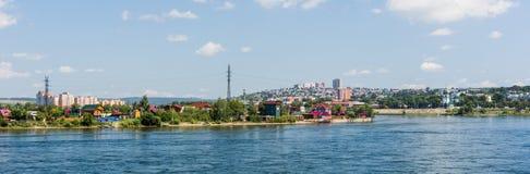 Panorama av staden av Irkutsk Arkivfoto