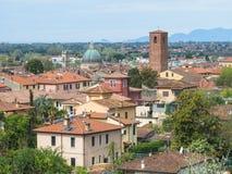 Panorama av staden av Pietrasanta Royaltyfria Bilder