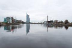 Panorama av staden av Riga, Lettland Arkivbild