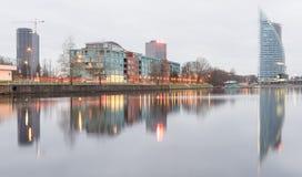 Panorama av staden av Riga, Lettland Royaltyfri Fotografi