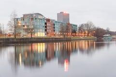 Panorama av staden av Riga, Lettland Fotografering för Bildbyråer