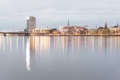Panorama av staden av Riga, Lettland Royaltyfri Foto