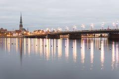 Panorama av staden av Riga, Lettland Royaltyfri Bild