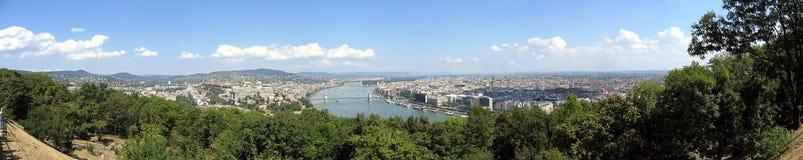 Panorama av staden Budapest Arkivfoto