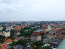 Panorama av staden Gniezno Royaltyfri Fotografi
