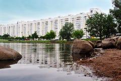 Panorama av staden i Europa Royaltyfri Fotografi