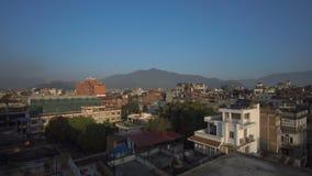 Panorama av staden av Katmandu stock video