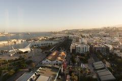 Panorama av staden av Las Palmas de Gran Canaria royaltyfri fotografi