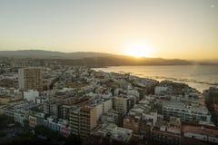 Panorama av staden av Las Palmas de Gran Canaria arkivbild