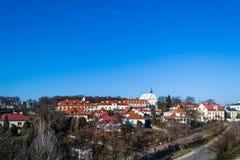 Panorama av staden av Sandomierz, Polen Arkivfoto