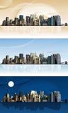 Panorama av storstaden. Arkivbilder