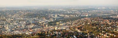Panorama av Stuttgart för Stuttgart 21 Fotografering för Bildbyråer