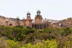 Panorama av Sun City, slotten av den borttappade staden, Sydafrika Arkivbilder