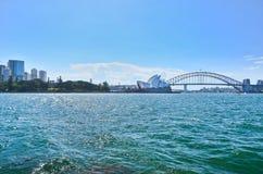 Panorama av Sydney Harbor Fotografering för Bildbyråer