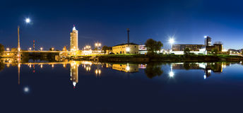Panorama av Tartu, Estland royaltyfria foton