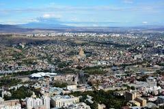 Panorama av Tbilisi Arkivbild