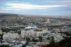 Panorama av Tbilisi Arkivbilder