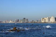 Panorama av Tel Aviv Royaltyfri Fotografi